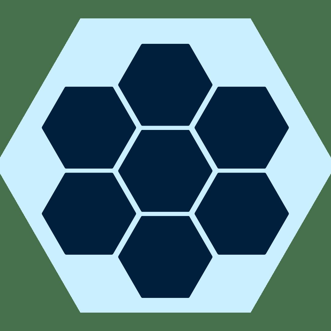Navy Blue Hex pattern