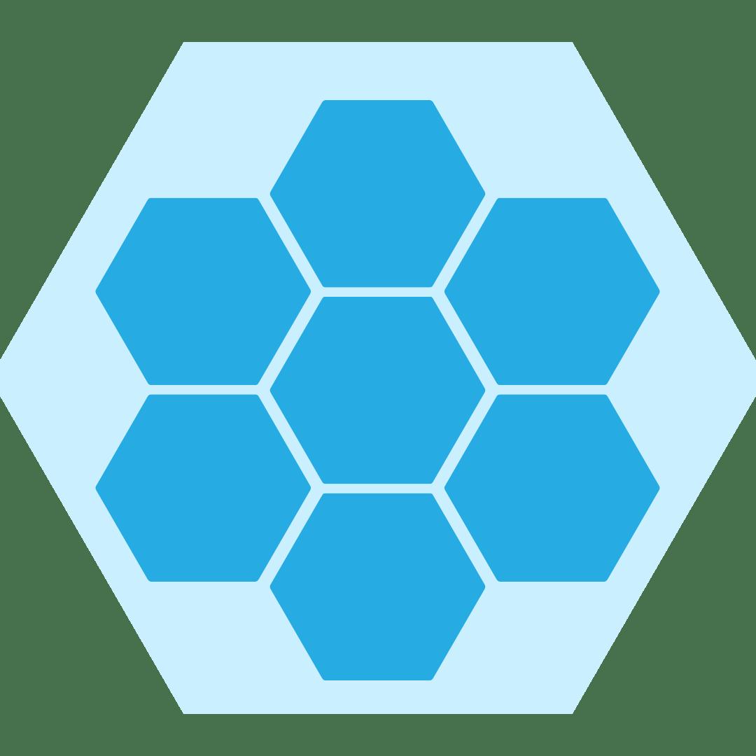 Light Blue Hex pattern