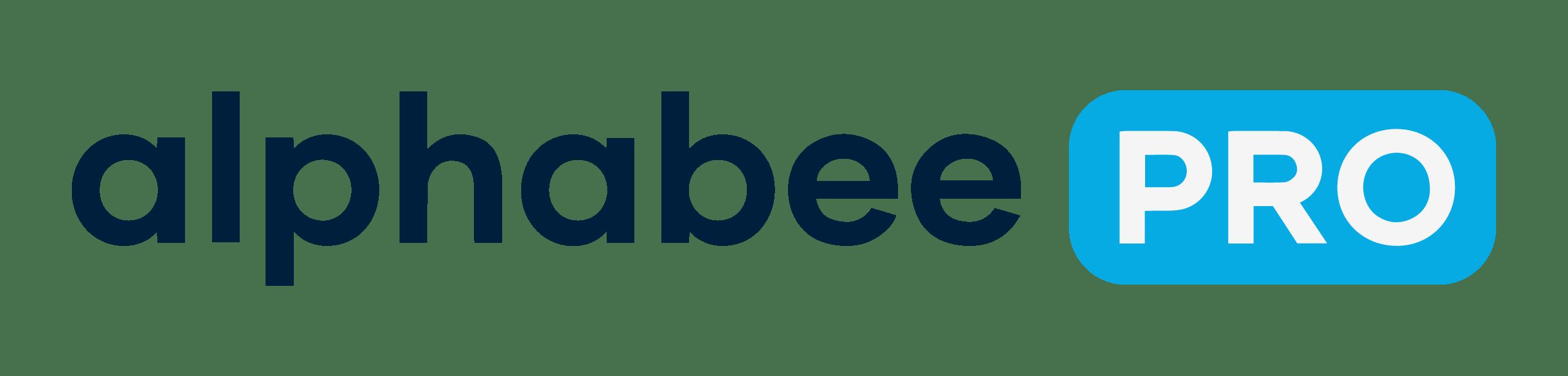 AlphaBee White Logo